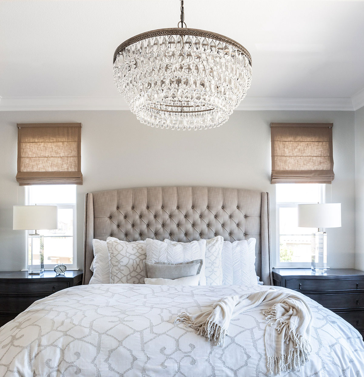 Crystal bedroom chandelier
