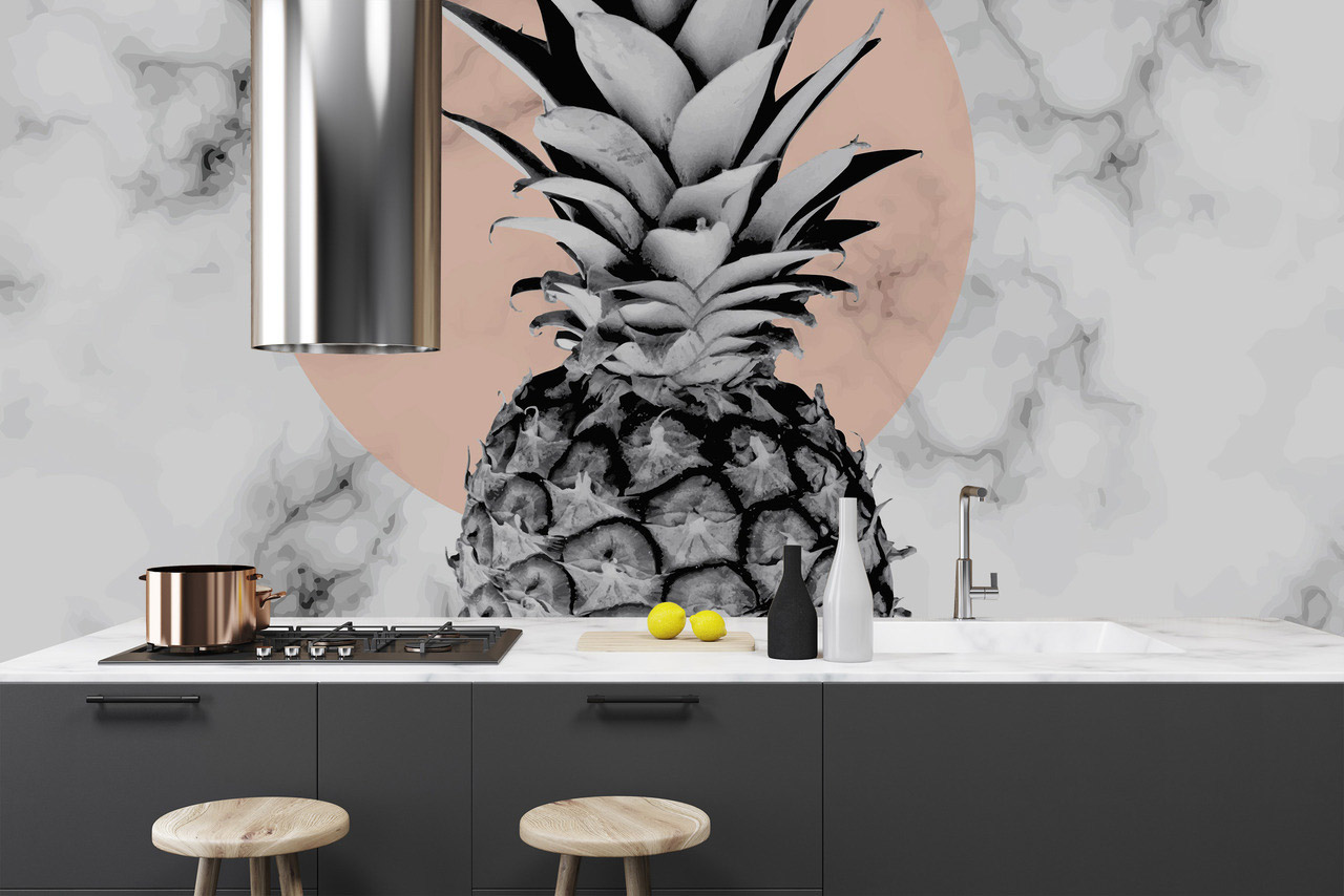 Pineapple kitchen wall decal