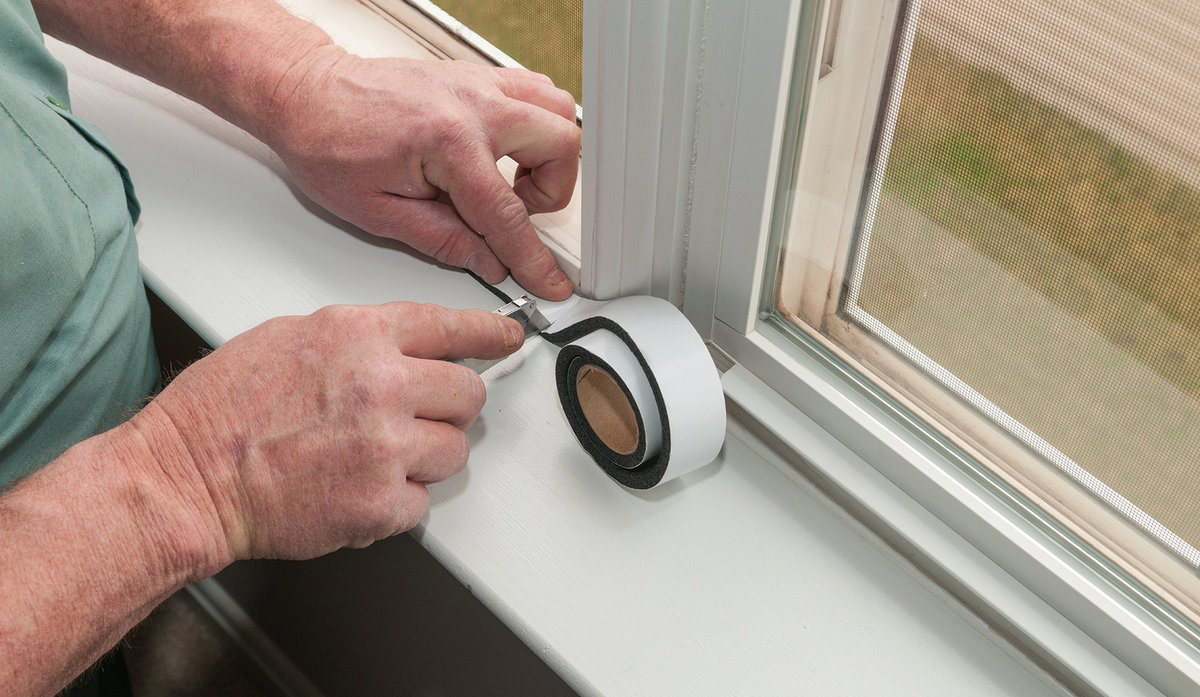 Insulating the windows for winter