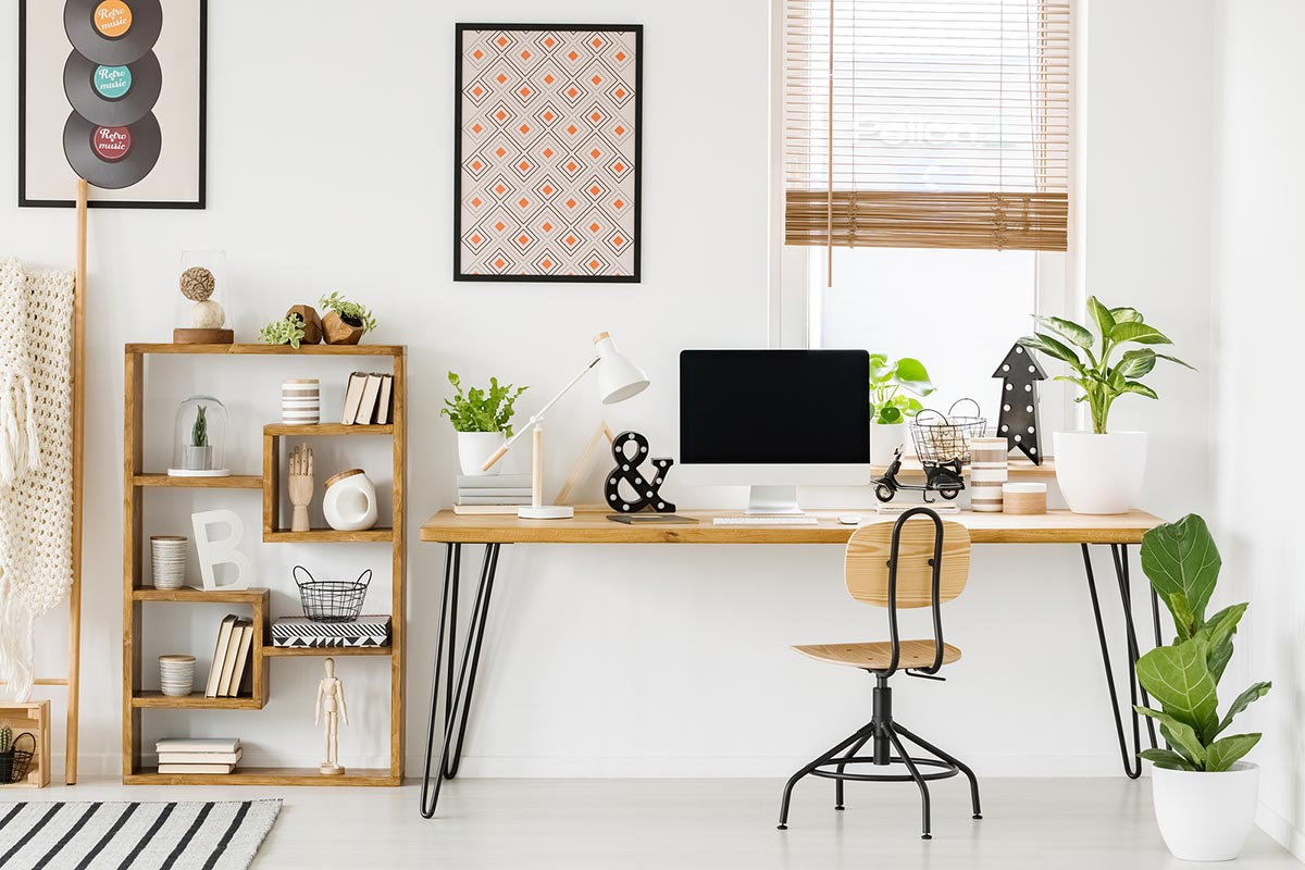 Modern and fresh home office