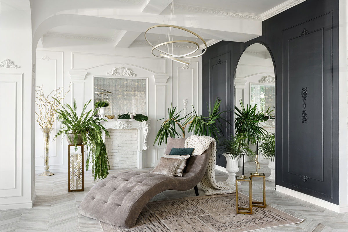 Luxury room with mirrors