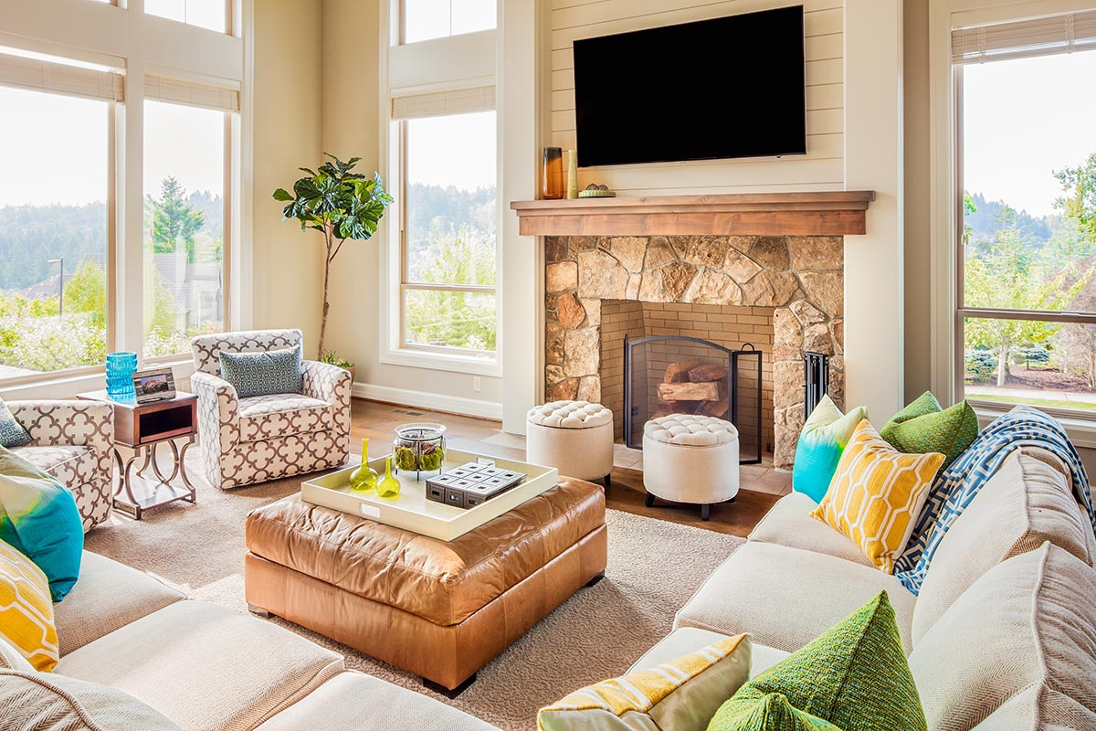 Bright and sunny living area
