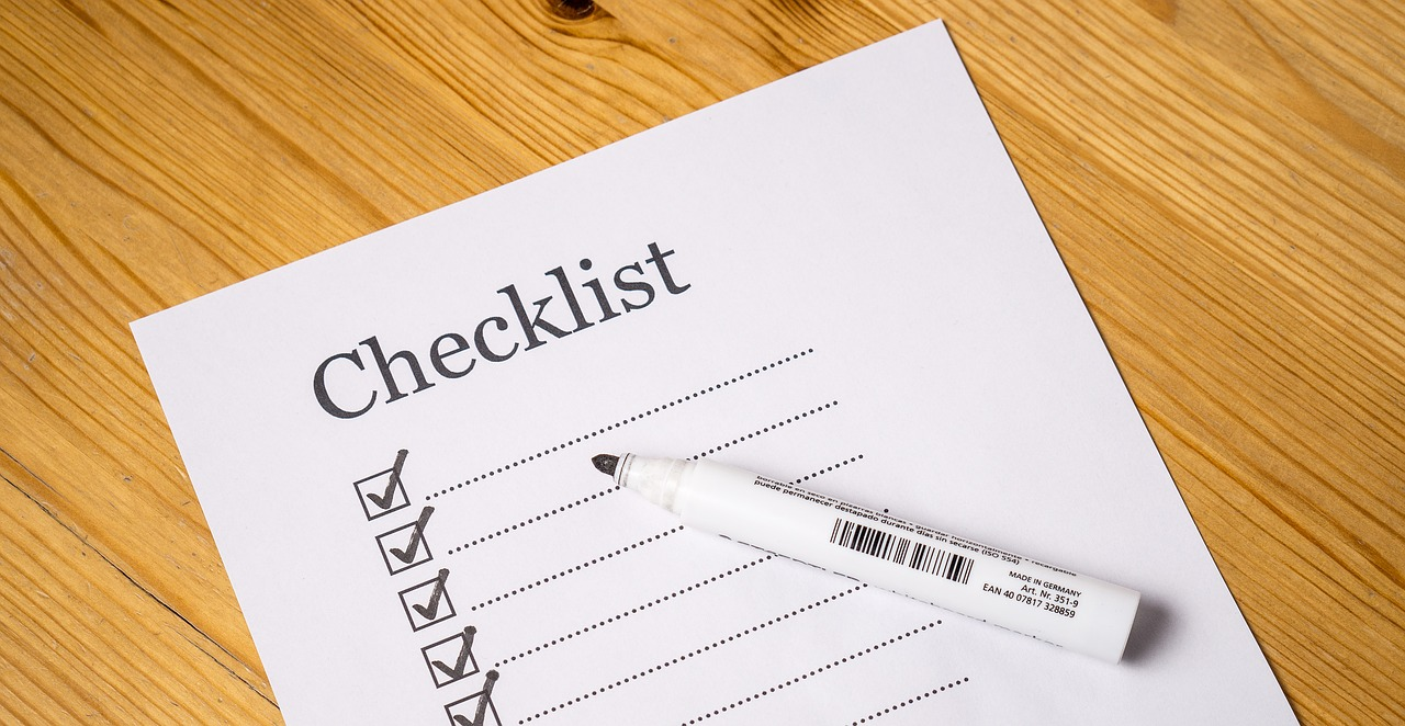 Home plumbing checklist
