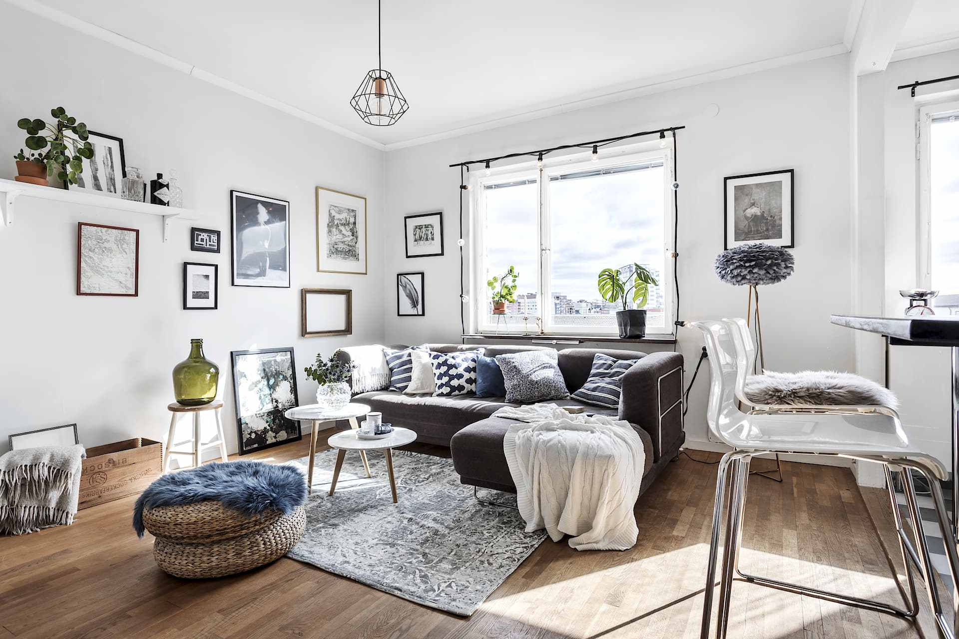 Small Swedish Flat with Open Concept