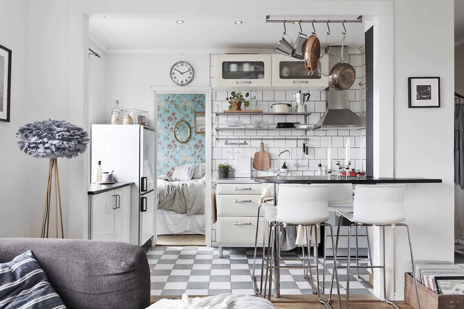 Kitchen in a small flat