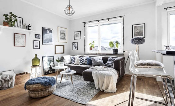 It's All in the Details: Small Swedish Flat Boasts Functionality and Charm