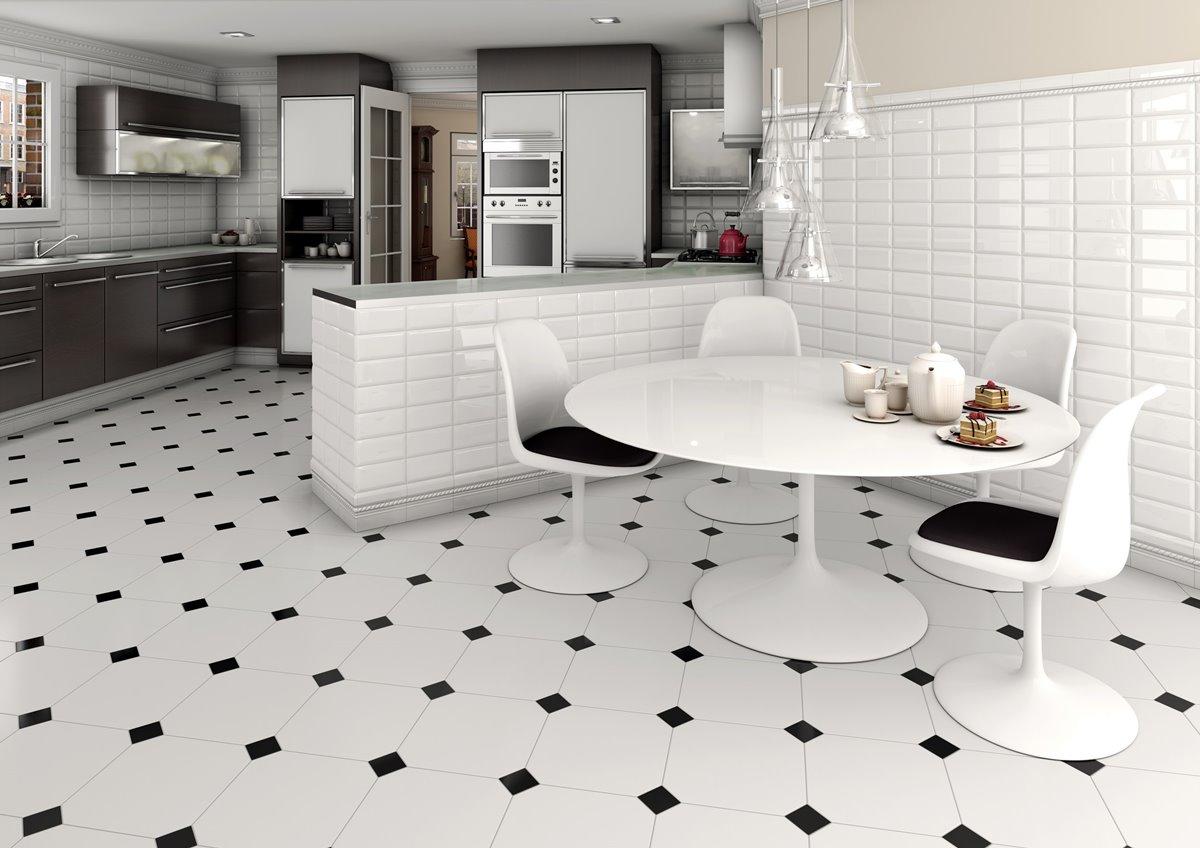 Retro floor tiles