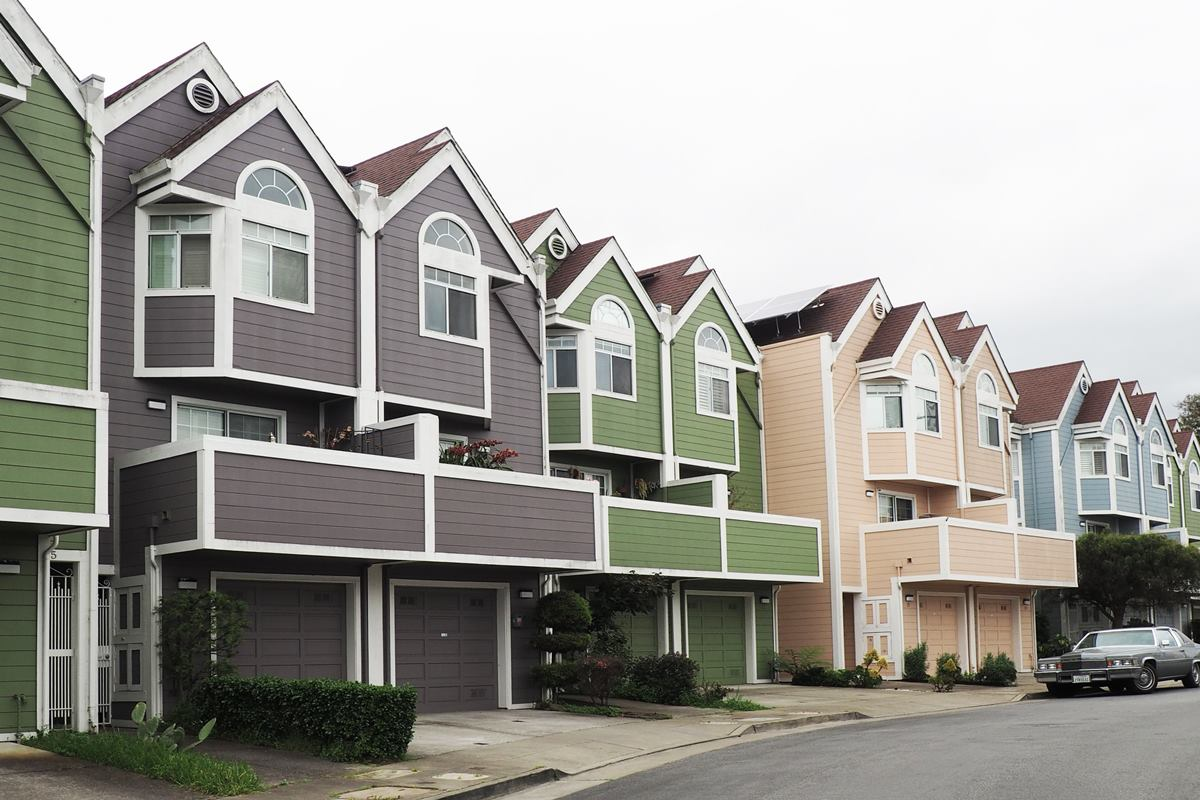 House siding in different colors