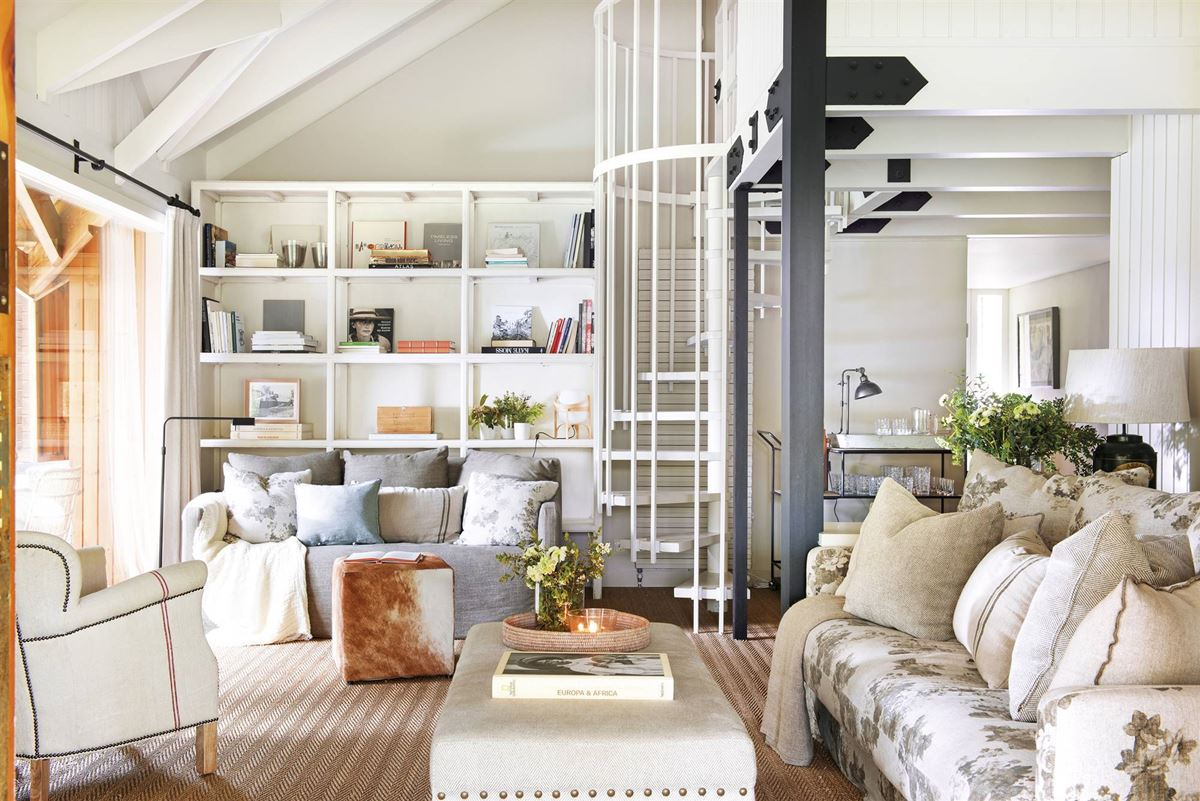 Country house open plan living area