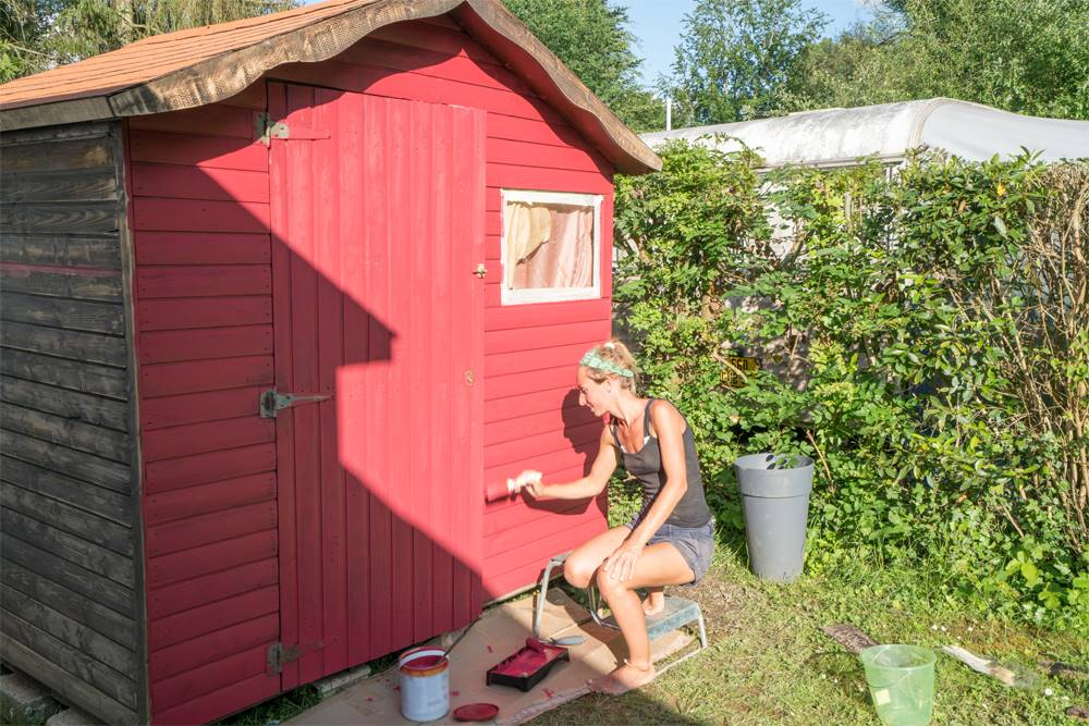 Garden shed painting