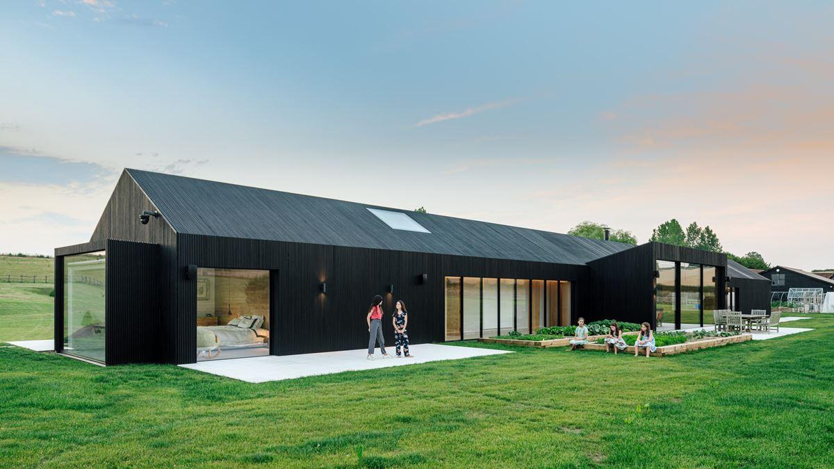 Contemporary barn house