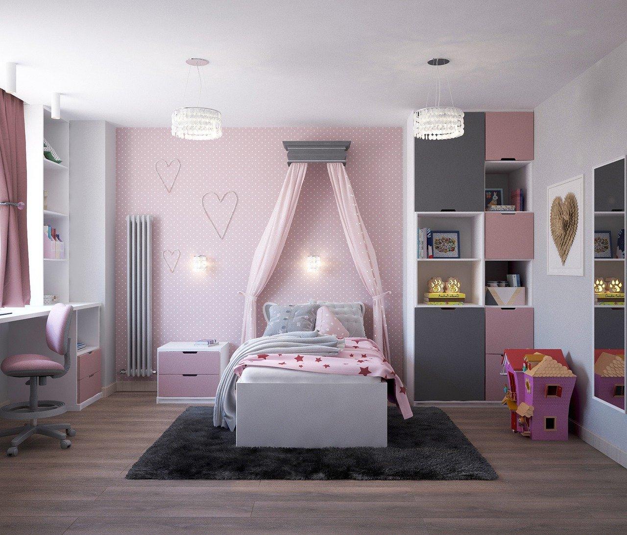 Beautiful pink girls room