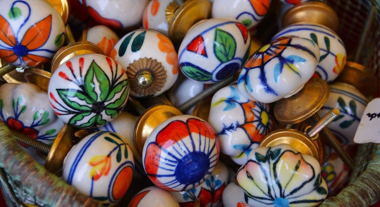 Colorful drawer knobs