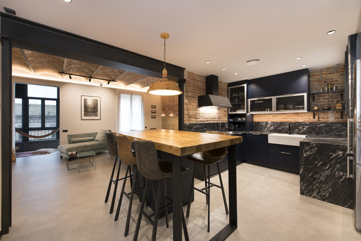 Contemporary Industrial Style Flat