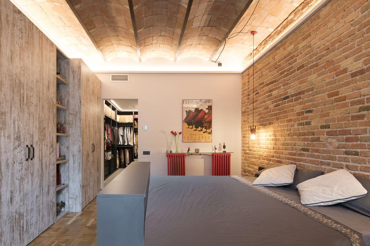 Contemporary industrial bedroom