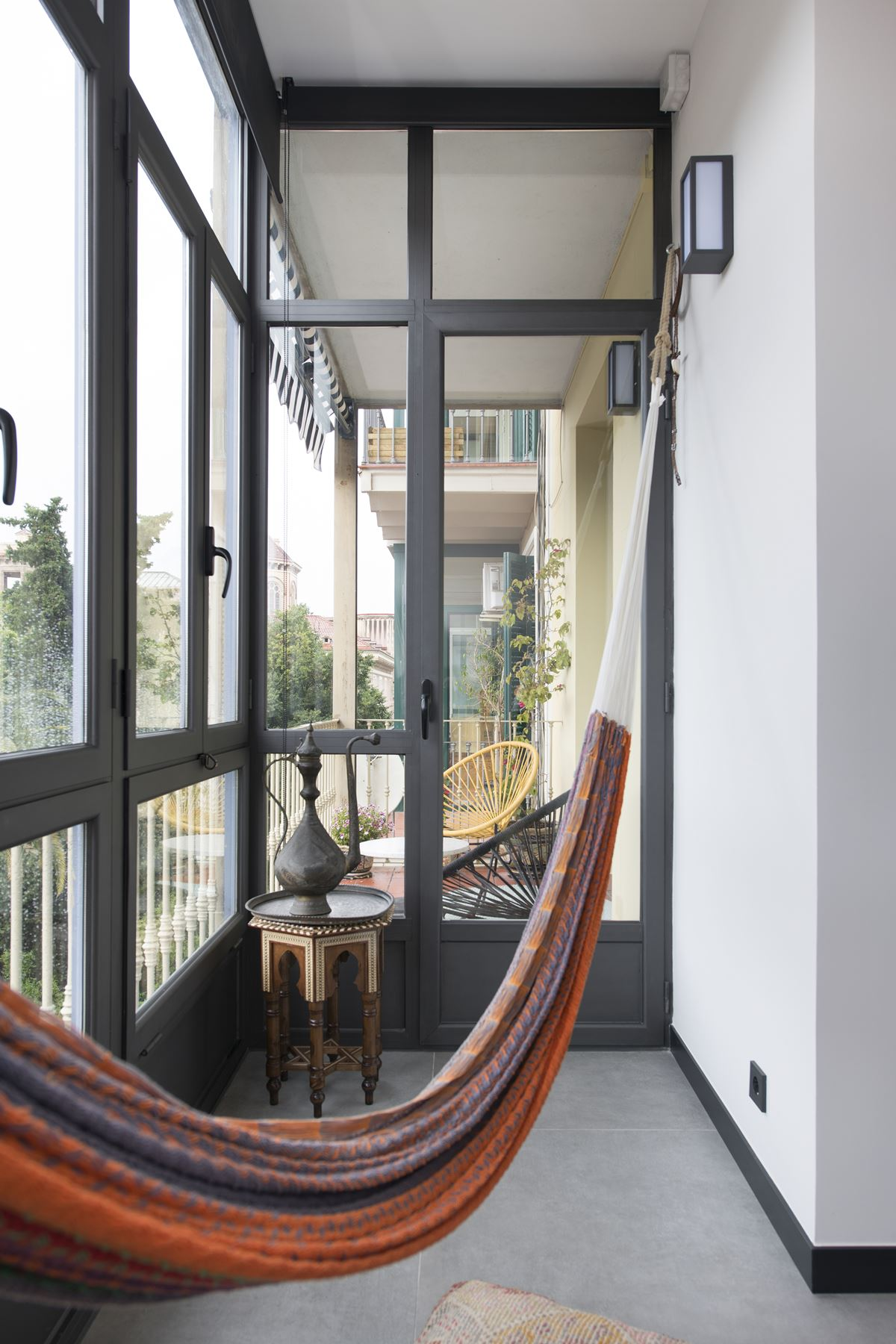 Balcony with a hammock