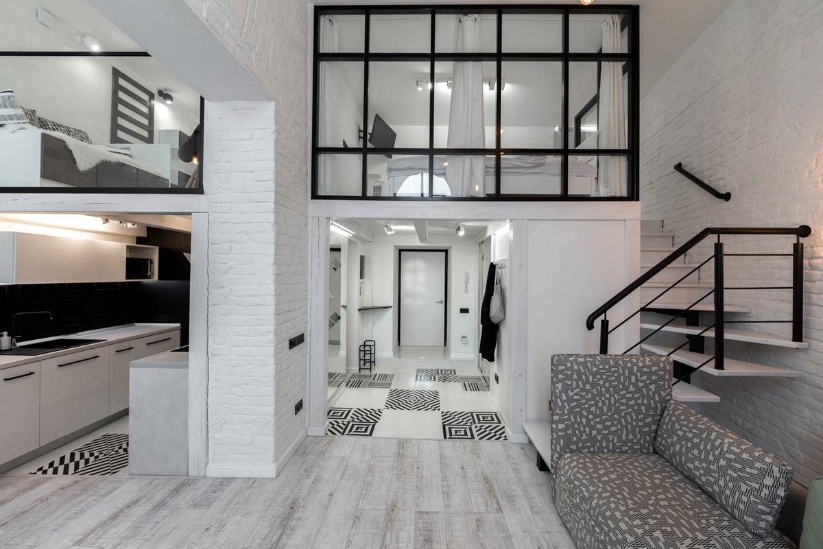 Stylish Black and White Loft