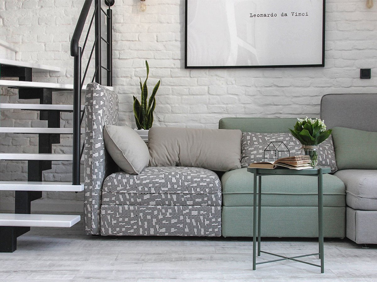 Lounge area in an urban loft