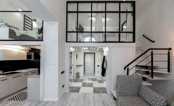 Stylish Black and White Loft in Ukraine
