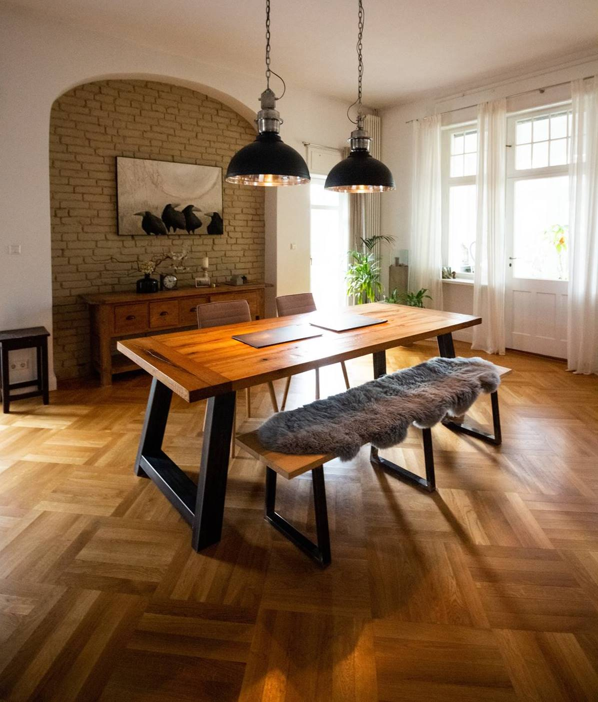 Wooden floors at home
