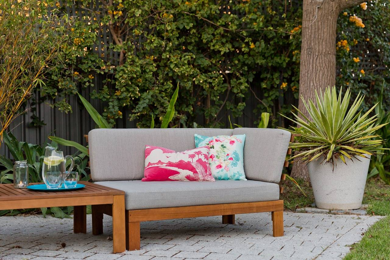 Upholstered outdoor seating