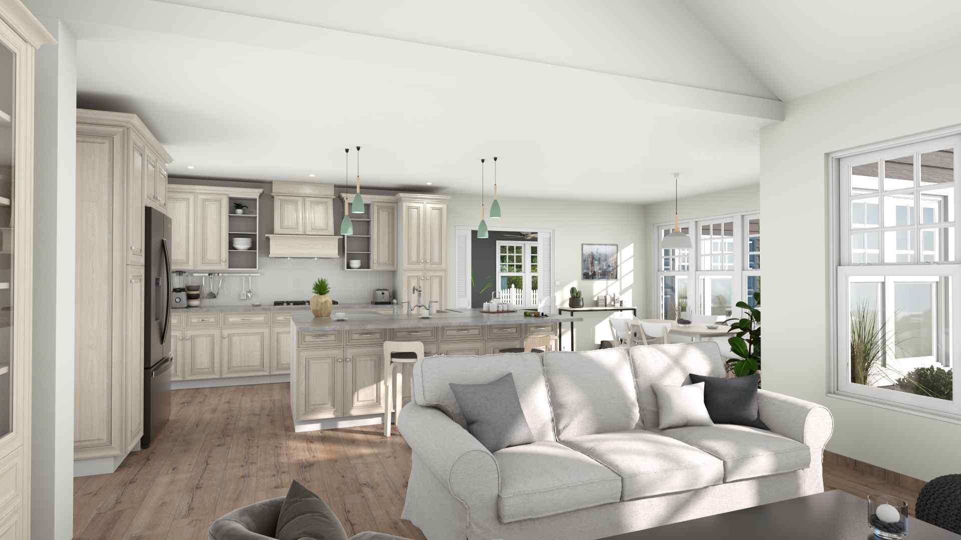 Kitchen and living area vizualization