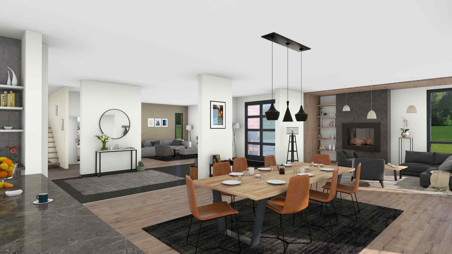 Open plan living area visualization