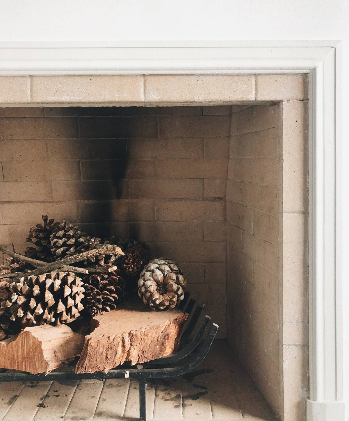 Preparing the fireplace for winter