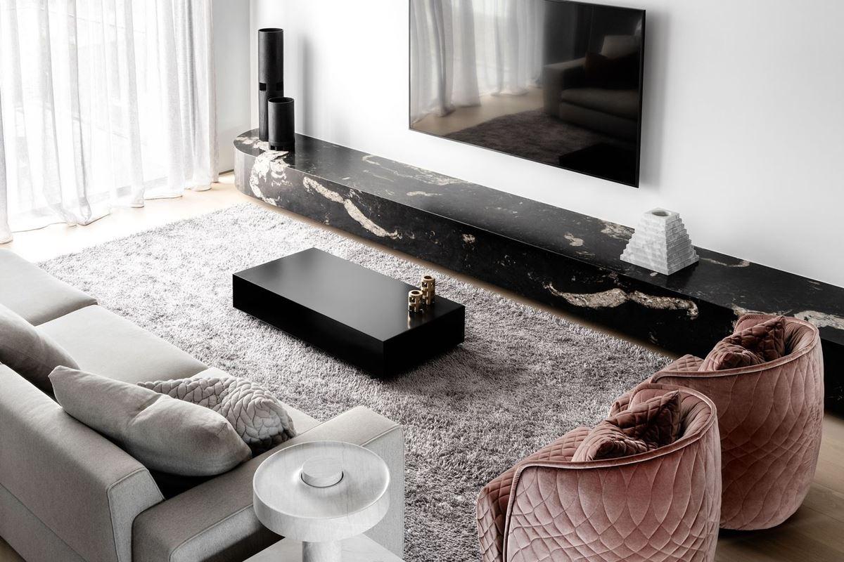 Scalpellino House - living room