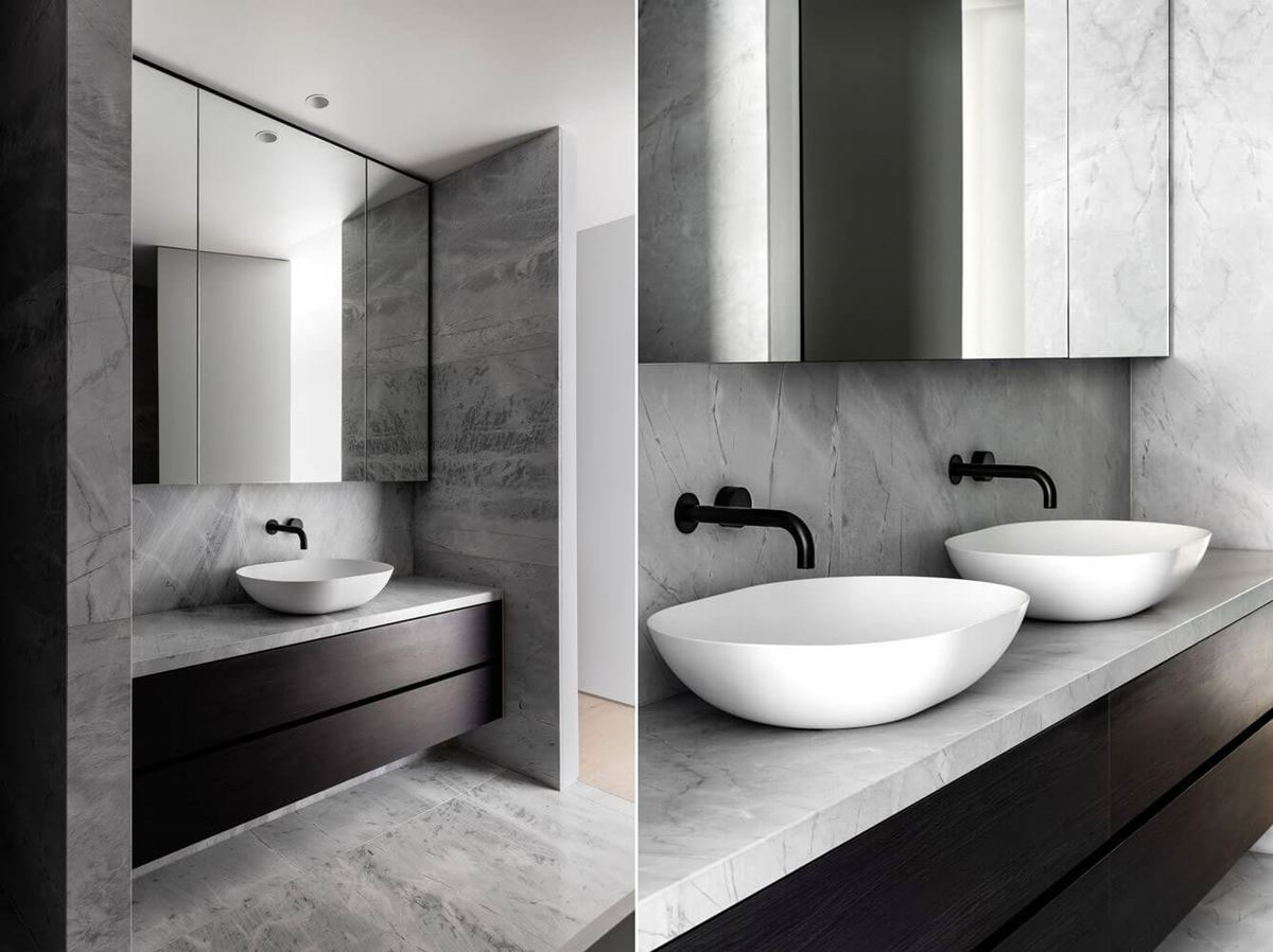 Scalpellino House - upper level bathroom