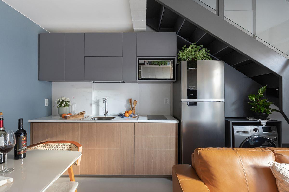 Kitchen area in a small duplex