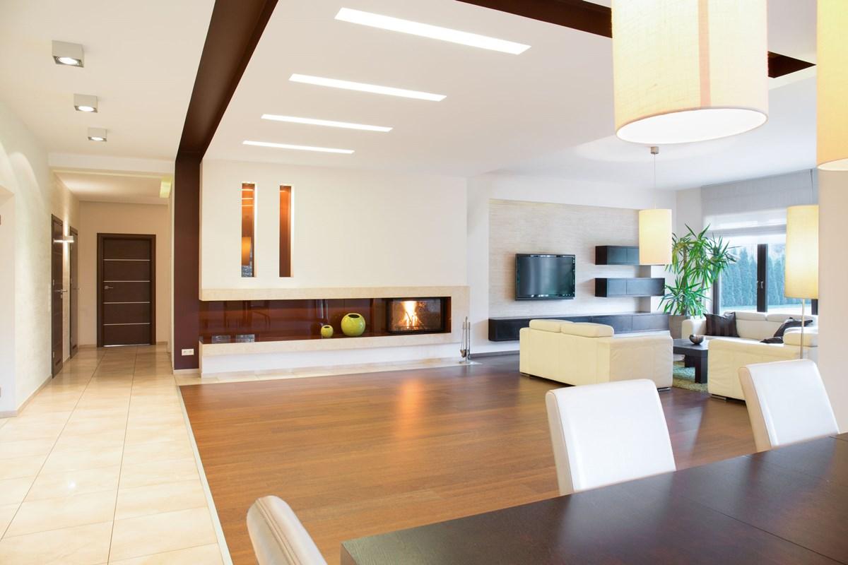 Minimal open plan home