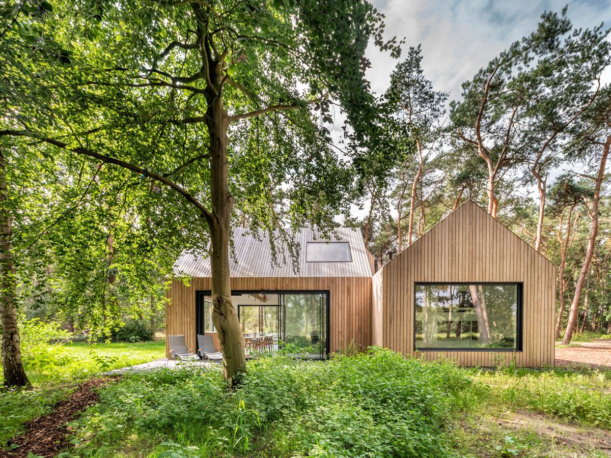Villa in the woods of the Netherlands