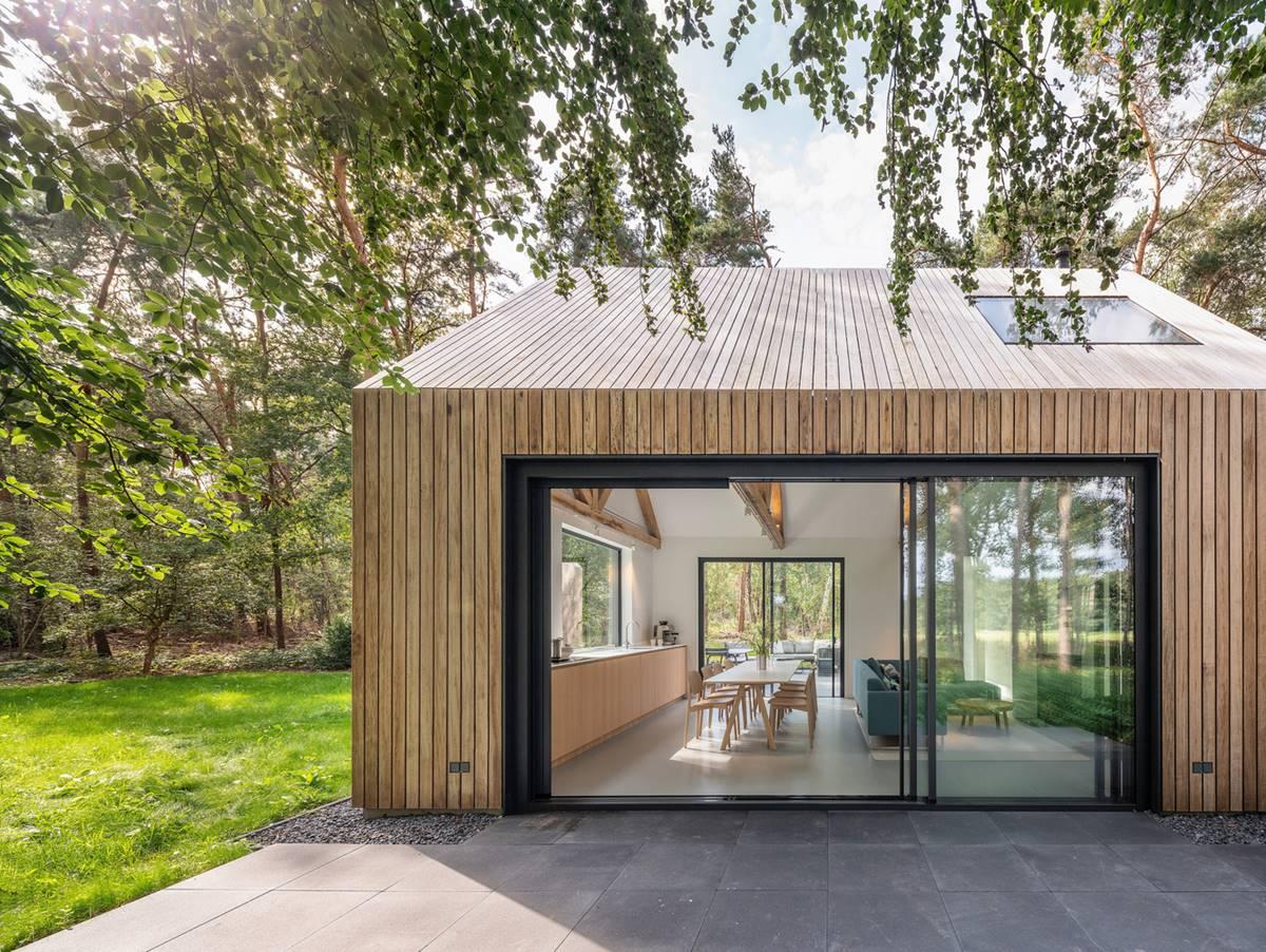 Villa with sliding glass doors