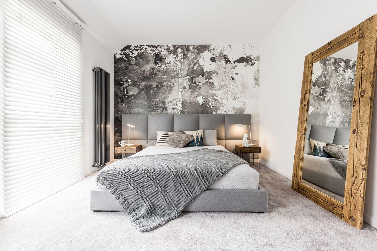 Small stylish bedroom