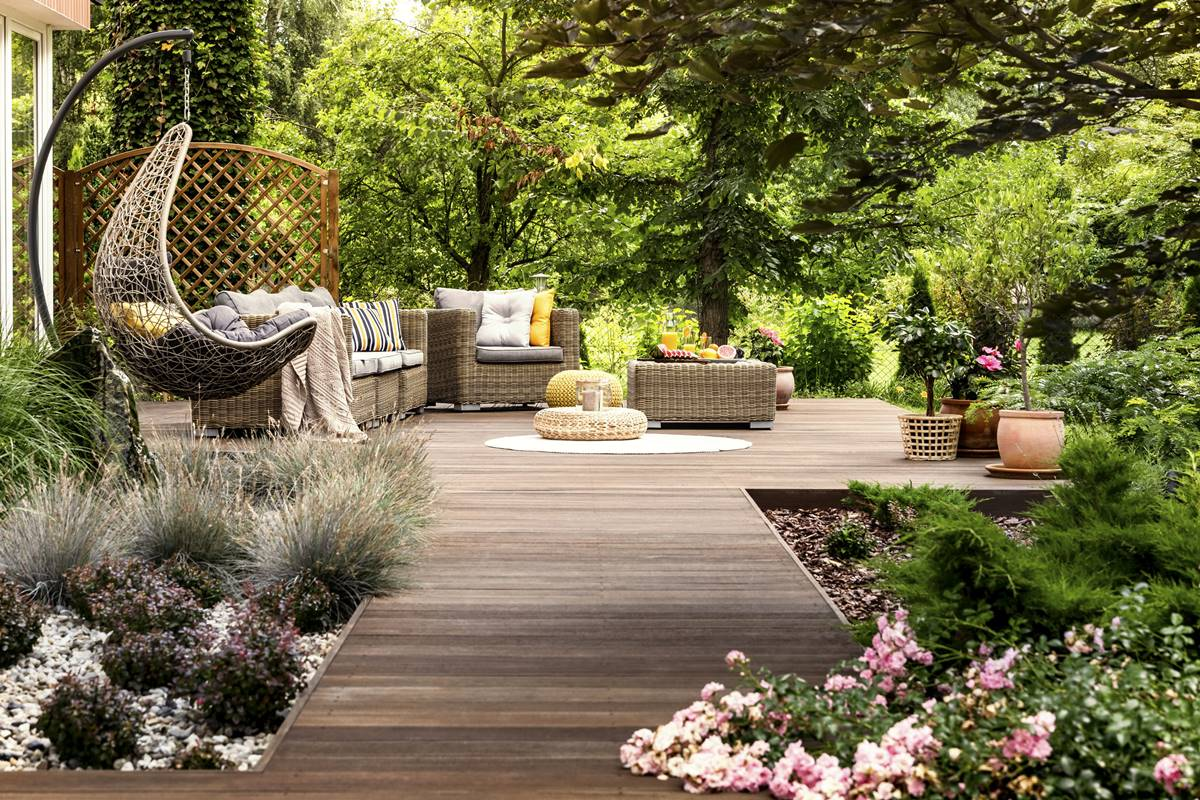 Luxurious outdoor space